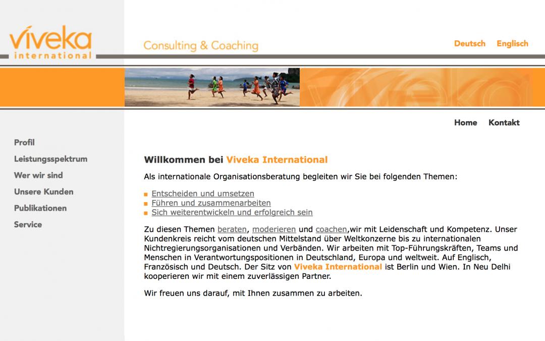 Zusammenarbeit mit Viveka International in Deutschland