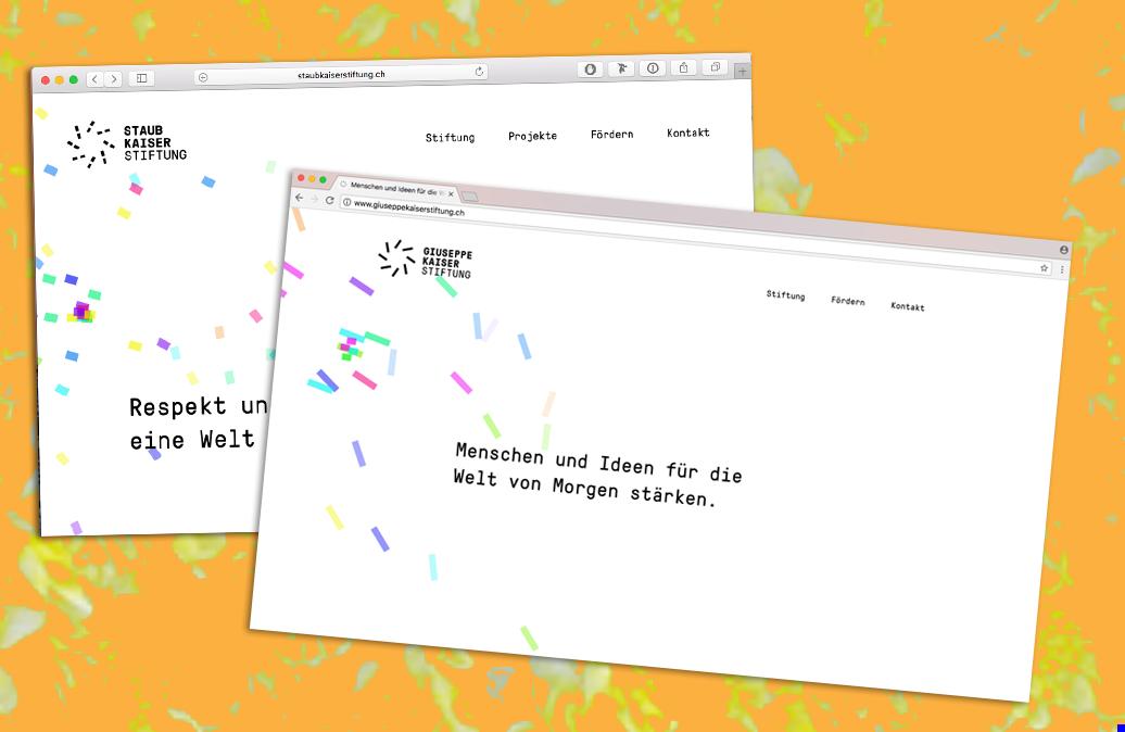 Websites für Förderstiftungen